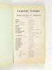 Compagnie des Chemins de fer de l'Est. Eastern of  France Railroad  Co. Vocabulaire technique. Technical Vocabulary. Termes français et américains - ...