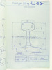 Document technique à l'échelle 1/1 : Description de divers modèles de rails : Rail type 55 kg U 11 - Rail type 46 kg U 12 - Rail type 36 kg U 13 - ...