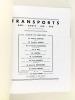 Transports Rail - Route - Air - Eau. Revue mensuelle illustrée [ Lot de 12 numéros ] N° 3 : 1er décembre 1934 - N° 8 : Mai 1935 - N°10 : Juillet 1935 ...