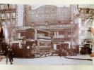 Lot de 4 reproductions photographiques : La circulation sur le Pont Saint-Michel vers 1910 (Omnibus à Chevaux, Tramway à air comprimé, Tramway ...