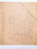Plan manuscrit colorié du Domaine de Puygueraud situé dans les communes de Baurech et Tabanac dressé d'après les documents fournis par Mme Vve Sorbé ...