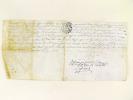 [ Reçu manuscrit d'un acte de transmission de propriété en Cerdagne, l'an 1788 : ] L'an 1788 le onzième décembre dans la ville de Vinça. Par devant ...