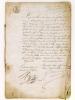 """[ Exceptionnel document manuscrit pour l'histoire de l'édition française 1810-1846 : """"Registre aux déclarations"""" des célèbres Imprimeurs-Libraires ..."""