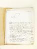[ Un plagiat sous l'Empire ou les conseils du Baron Walckenaer au librairie Dentu - Année 1811 ] Dossier recueillant 11 lettres et documents ...