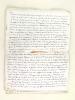 Les Républiques de La Plata et le Brésil [ Manuscrit autographe signé de l'article publié en 1860 dans La Revue Européenne  ]. REYBAUD, Charles