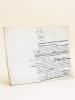 Manuscrit autographe d'un article consacré à Jenner [ Texte d'un chapitre de l'ouvrage Le Panthéon des Hommes Utiles, par Gustave Chadeuil et ...