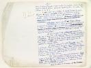 """Manuscrit autographe : Conclusion du Panthéon des Hommes Utiles [ Texte du chapitre de conclusion de l'ouvrage """"Le Panthéon des Hommes Utiles"""", par ..."""