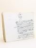 Manuscrit autographe d'un article consacré à Brémontier [ Texte d'un chapitre de l'ouvrage Le Panthéon des Hommes Utiles, par Gustave Chadeuil et ...