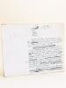 Manuscrit autographe d'un article consacré à Fulton [ Texte d'un chapitre de l'ouvrage Le Panthéon des Hommes Utiles, par Gustave Chadeuil et ...