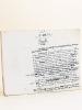Manuscrit autographe d'un article consacré à Joseph Marie Jacquard [ Texte d'un chapitre de l'ouvrage Le Panthéon des Hommes Utiles, par Gustave ...