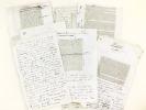 Extraits du manuscrit autographe des articles rédigés par Hippolyte Lucas consacrés à Blaise Pascal, l'Abbé de l'Espée, Washington, Gutenberg, Sully, ...