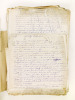 Dossier de plus de 330 feuillets manuscrits, rédigés par la Veuve d'Edouard Dentu, Léonie Faure Decamps : Catalogue des autographes de la Collection ...
