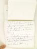 Lettre autographe signée de Georges Monval, Bibliothécaire Archiviste de la Comédie Française, au Général Brunon [ à propos des pièces de Talma jouées ...