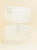 Lettre signée par Joseph Caillaux, à en-tête du Ministère des Finances, Cabinet du Ministre. Débits de Tabac et Recettes Buralistes, le 29 avril 1900 ...