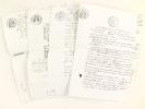 [ L'éditeur Edouard Dentu poursuit son confrère libraire et éditeur Adolphe Delahays. Recueil de 4 actes d'huissier agissant en recouvrement d'une ...