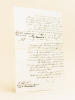 """[ Quand Eugène de Mirecourt cherche à se faire payer par l'éditeur Edouard Dentu. Copie d'acte d'huissier ]  """"L'an 1863 le 22 avril ; en vertu de ..."""