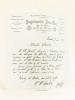 """Lettre à en-tête de l'Imprimerie Alcan-Lévy, adressée à Monsieur Sauvaistre [ Premier commis de l'éditeur Edouard Dentu ] : """"Paris, le 27 mai 1882. ..."""