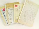 [ Lot de courriers d'intérêt littéraire dont nombreuses lettres autographes signées adressées ou relatifs à l'écrivain Pierre de La Batut dont : ] ...