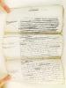 """Manuscrit autographe : Deuxième partie du roman """"Catherine d'Overmeire. Etude"""". FEYDEAU, Ernest"""