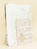[ Lot d'archives privées 1682-1850 communes de Sauveterre de Guyenne, Rauzan, Mauriac, Blasimon : 10 actes divers ] Acte daté du 9 décembre 1682 à ...
