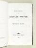 Oeuvres complètes de Charles Nodier. Tome X : Souvenirs de Jeunesse.. NODIER, Charles