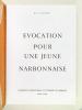Evocation pour une Jeune Narbonnaise.. CAIROU, René
