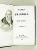 Oeuvres de J. F. Ducis (8 Tomes en 3 vol. - Complet). DUCIS, Jean-François
