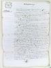 Lot d'archives relatives à l'arrondissement de Bourg-sur-Gironde [ Plus de 150 pièces rédigées entre 1715 et 1880, dont 12 pièces rédigées en 1700 et ...