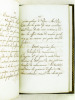 Sentiments Religieux [ Suivi de : ] Résolutions de Zénaïde Clary [ Manuscrit autographe de Zénaïde Clary daté de mars 1827 ]. CLARY, Zénaïde