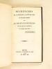 Recherches historiques, littéraires et bibliographiques sur la Vie et les Ouvrages de M. de La Harpe . PEIGNOT, Gabriel