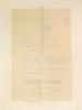 """Arrêté de Réquisition pour la commune de Clémery : """"Le Ministre de la Guerre, Vu la loi du 3 juillet 1877 relative aux réquisitions militaires ; vu le ..."""