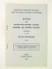 """Actes du 87e Congrès National des Sociétés Savantes. Poitiers 1962 Section d'Archéologie. Extrait. """"Découverte dans l'ancienne Aquitaine de quelques ..."""