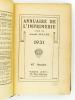 Annuaire de l'Imprimerie , fondée par Arnold Muller - 1931 , 41e année. MULLER, Arnold