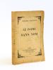 Le Poème sans Nom [ Livre dédicacé par l'auteur ]. DOCQUOIS, Georges