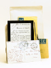 Lot de 2 Lettres autographes signées par le poète Léon Reppelin et par l'oncle du sous-lieutenant tombé au front  en septembre 1916 adressées à ...