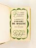 La prodigieuse vie d'Honoré de Balzac [ Livre dédicacé par l'auteur ]. BENJAMIN, René