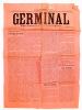 Germinal , Organe hebdomadaire d'émancipation populaire ( première année, N° 15 , 8 mai 1910 ). Germinal (revue) ; BRAGARD, Victor (dir.)