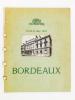 Bordeaux, 13-14-15 mai 1952 ( plaquette touristique, éditée pour la réunion à Bordeaux du Collège International des Chirurgiens ). Ville de Bordeaux ; ...