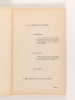 Etiologie et pathogénie de la maladie du Col de la Vessie [ Livre dédicacé par l'auteur ]. HUMBERT, Docteur Claude