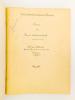 Cours de Droit Administratif (en 3 tomes ), 1954 -1955 et 1955 - 1956 : I. La fonction exécutive, la fonction législative, la fonction judiciaire ; ...