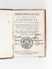 Ordonnances et Constitutions Synodales. Decrets et Reglemens, Donnés au Dioceze de Bordeaux par feus Nosseigneurs le Cardinal de Sourdis, Henry ...