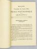 Bulletin de l'Association des Anciens élèves de l'école Polytechnique (A. X.) , N° 3 , Mai 1946 (numéro du Sesquicentenaire de l'école). AX ...