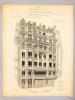 Monographies de Bâtiments Modernes. Maison à loyer, rue Réaumur n° 39 à Paris. Mr. G. Salard Architecte. DUCHER ; RAGUENET, A. (dir.) ; SALARD, G ...