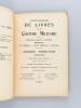 Catalogue de Livres sur le Costume Militaire. Uniformes français et étrangers. Règlements. Art Militaire - Livres d'Histoire - Mémoires. Manuscrits - ...