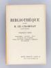 Bibliothèque de Feu M. Ch. Chadenat, ancien libraire (17 Parties - Complet) [ Edition originale ]. Collectif