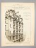 Monographies de Bâtiments Modernes -  272e numéro : Maison à loyer rue du Bourg-Tibourg n° 21 et rue de Moussy à Paris ; Maison Boulevard Raspail N° ...