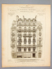 Monographies de Bâtiments Modernes -  Maison à loyer, Boulevard St Germain et rue Danton, à Paris, Mr. V. Blavette Architecte. DUCHER (édit.) ; ...
