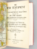 The New Testament of our Lord and Savior Jesus Christ , translated from the Latin Vulgate, dilignetly compared with the original Greek , and first ...