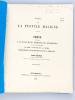 Essai sur la Pustule maligne. Thèse présentée à la Faculté de Médecine de Strasbourg, soutenue le 18 janvier 1869 [ Edition originale - Livre dédicacé ...