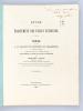 Etude sur le Traitement des Plaies veineuses. Thèse présentée à la Faculté de Médecine de Strasbourg, soutenue le 27 août 1866 [ Edition originale - ...